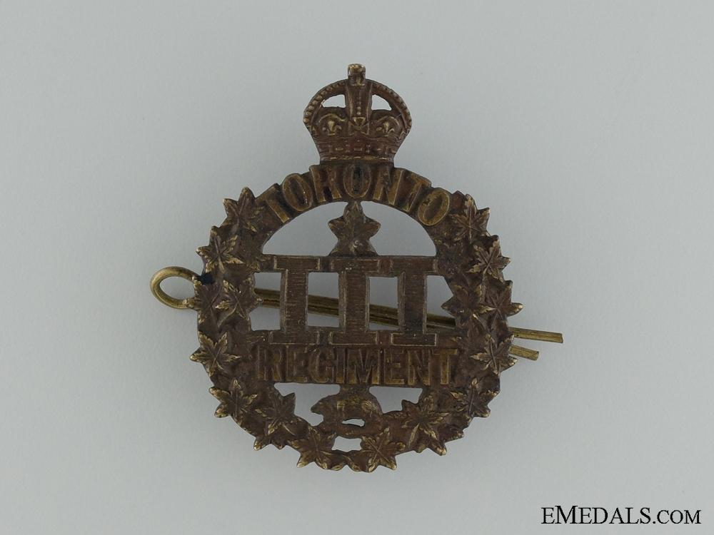 WWI 3rd Infantry Battalion Cap Badge CEF