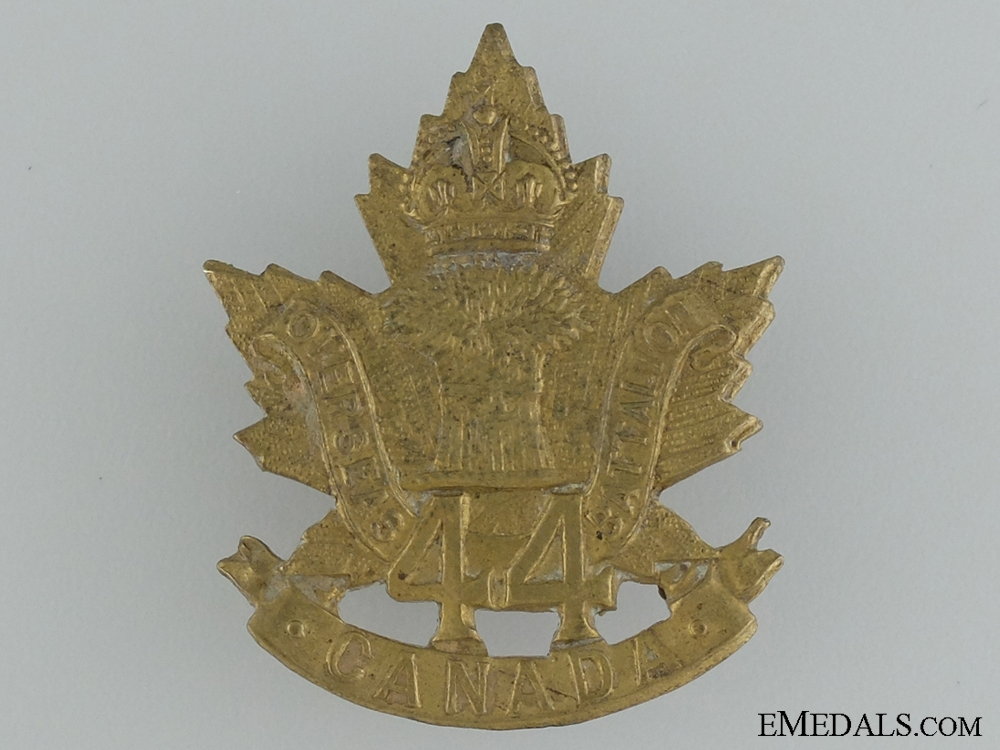 WWI 44th Infantry Battalion Cap Badge CEF