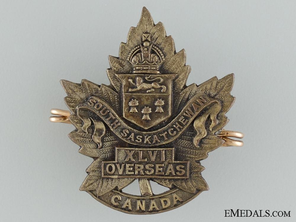 "WWI 46th Infantry Battalion ""South Saskatchewan"" Cap Badge"