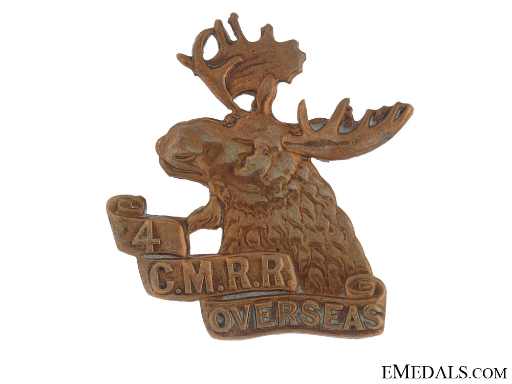 WWI 4th Mounted Rifle Battalion Cap Badge CEF