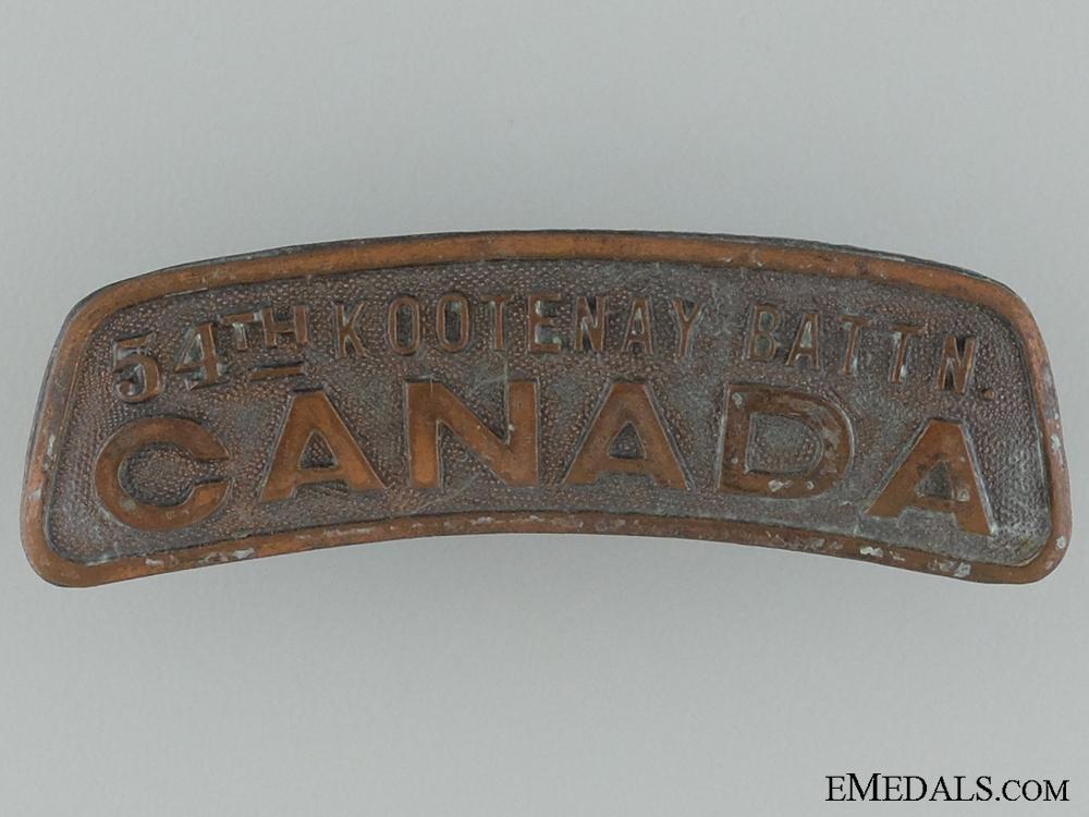 "WWI 54th Infantry Battalion ""Kootenay Battalion"" Shoulder Title"