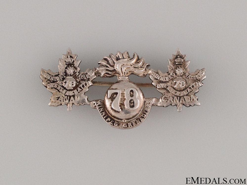 WWI 78th Infantry Battalion  Pin CEF