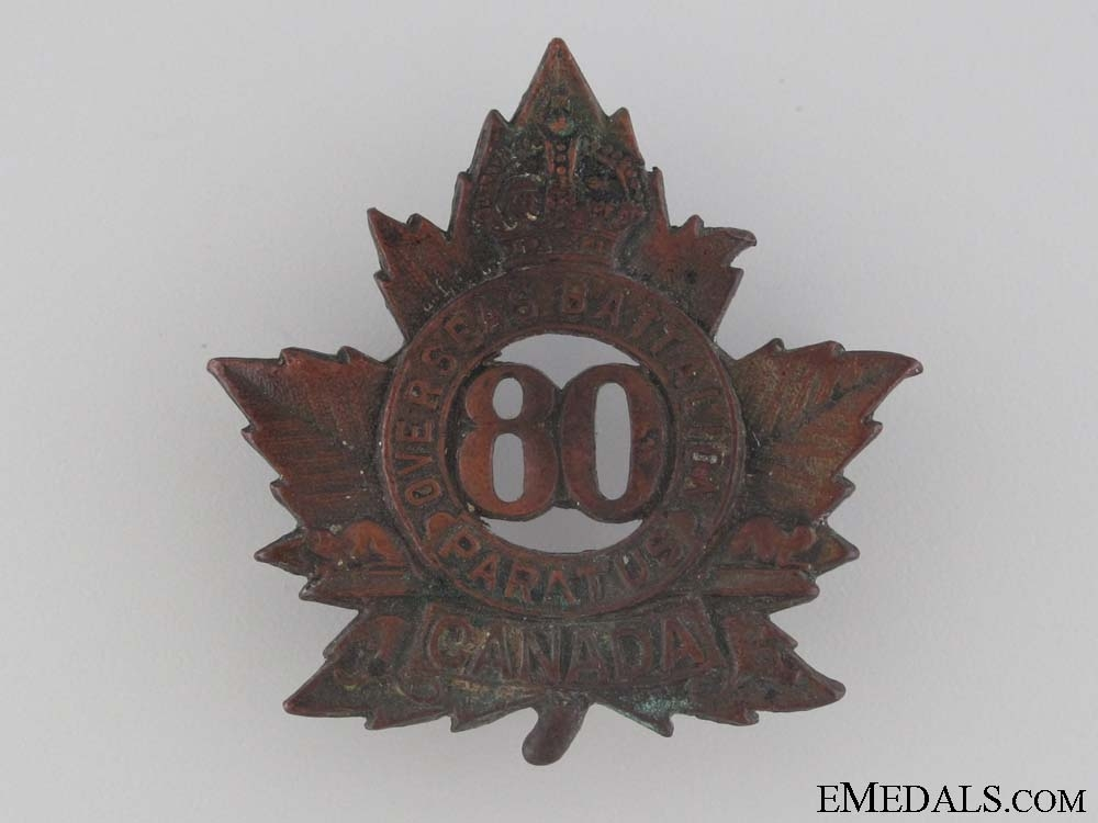 WWI 80th Infantry Battalion Cap Badge CEF