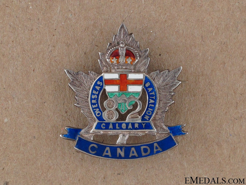 WWI 82nd Calgary Battalion Sweetheart Pin