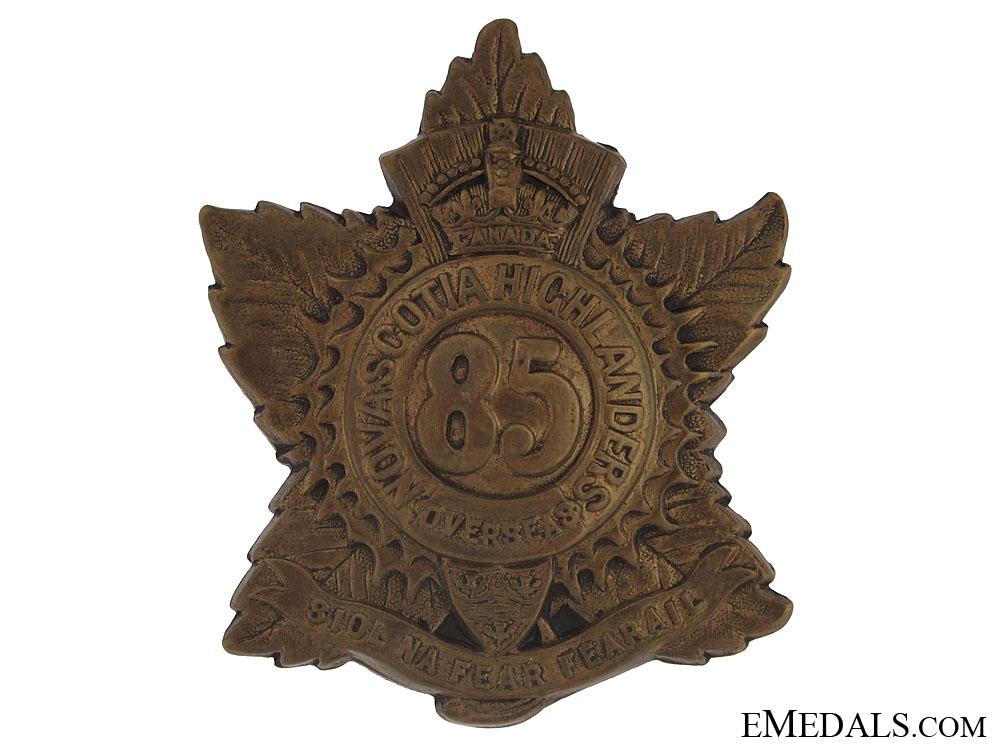 WWI 85th Nova Scotia Highlanders Cap Badge - CEF