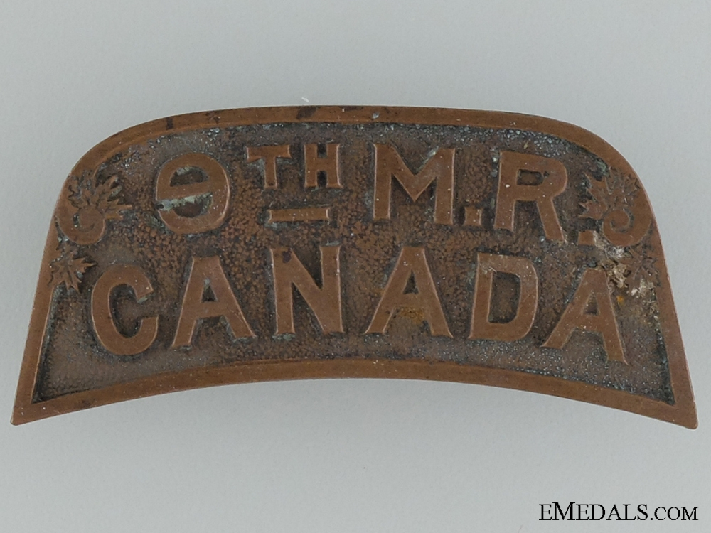 WWI 9th Mounted Rifle Battalion Shoulder Title