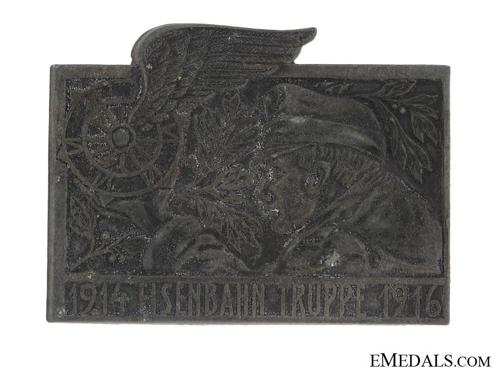 """WWI """"Eiserbahn Truppe"""" (Railway Troops) Badge 1914-1916"""