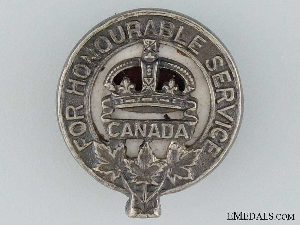 "WWI Army Class ""C"" War Service Badge"