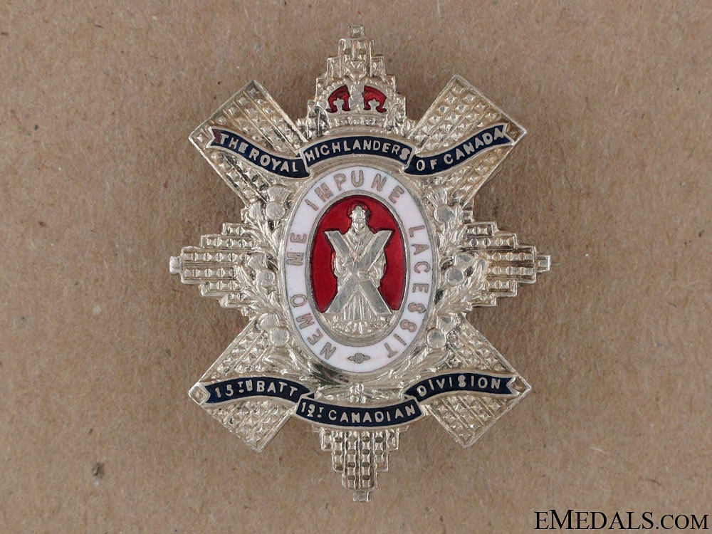 WWI Black Watch Large Sweetheart Pin CEF