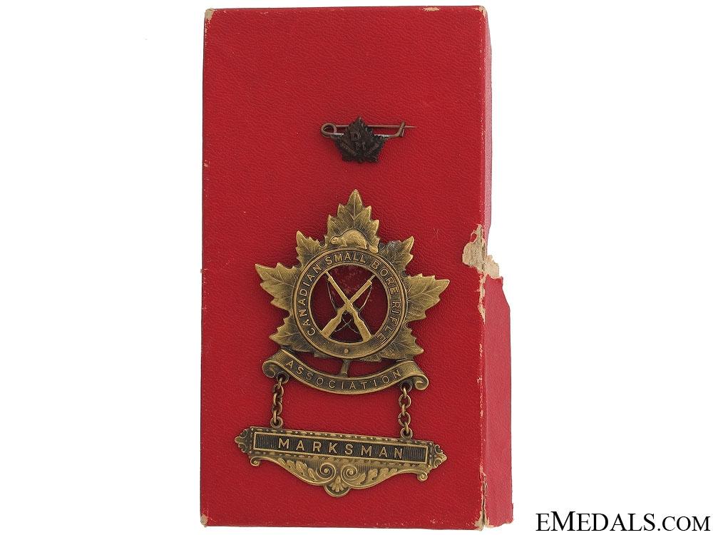 WWI Canadian Marksman Award