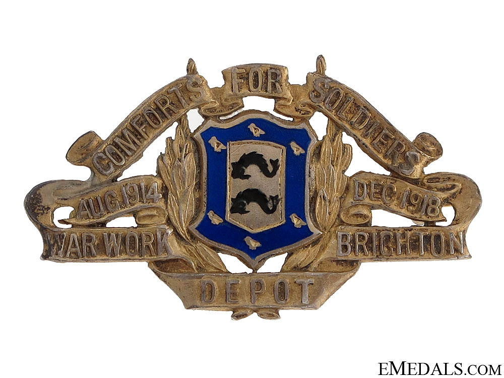 WWI Comforts for Soldiers War Badge 1914-1918