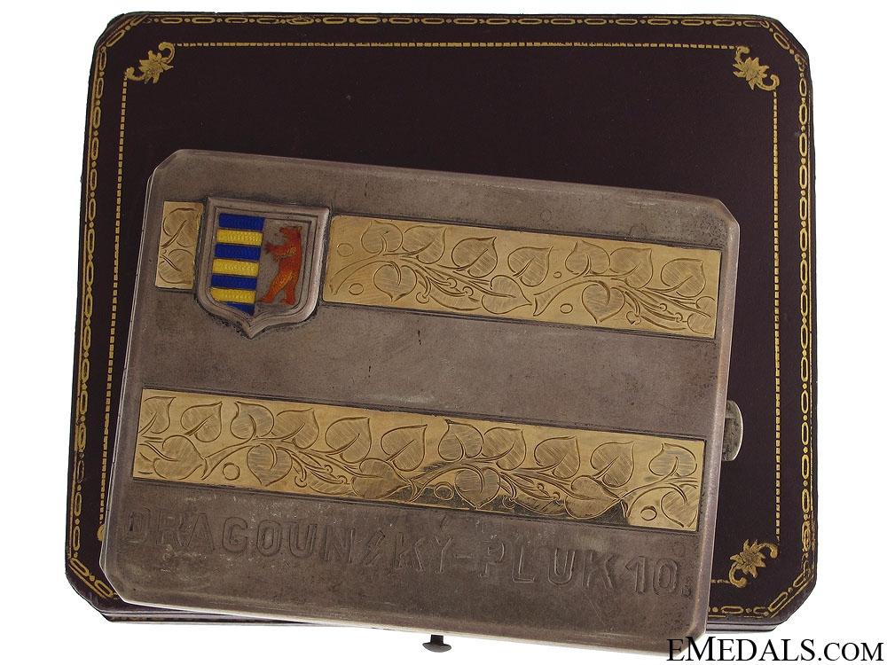 WWI Czech 10th Dragoons Presentation Cigarette Case