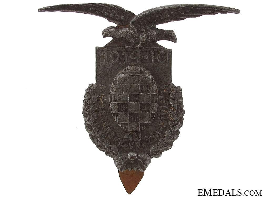 WWI Devil's Division Cap Badge