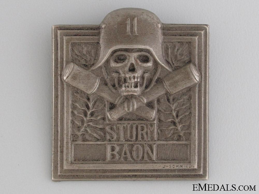 WWI German/Austrian Sturmbattalion 11 Badge