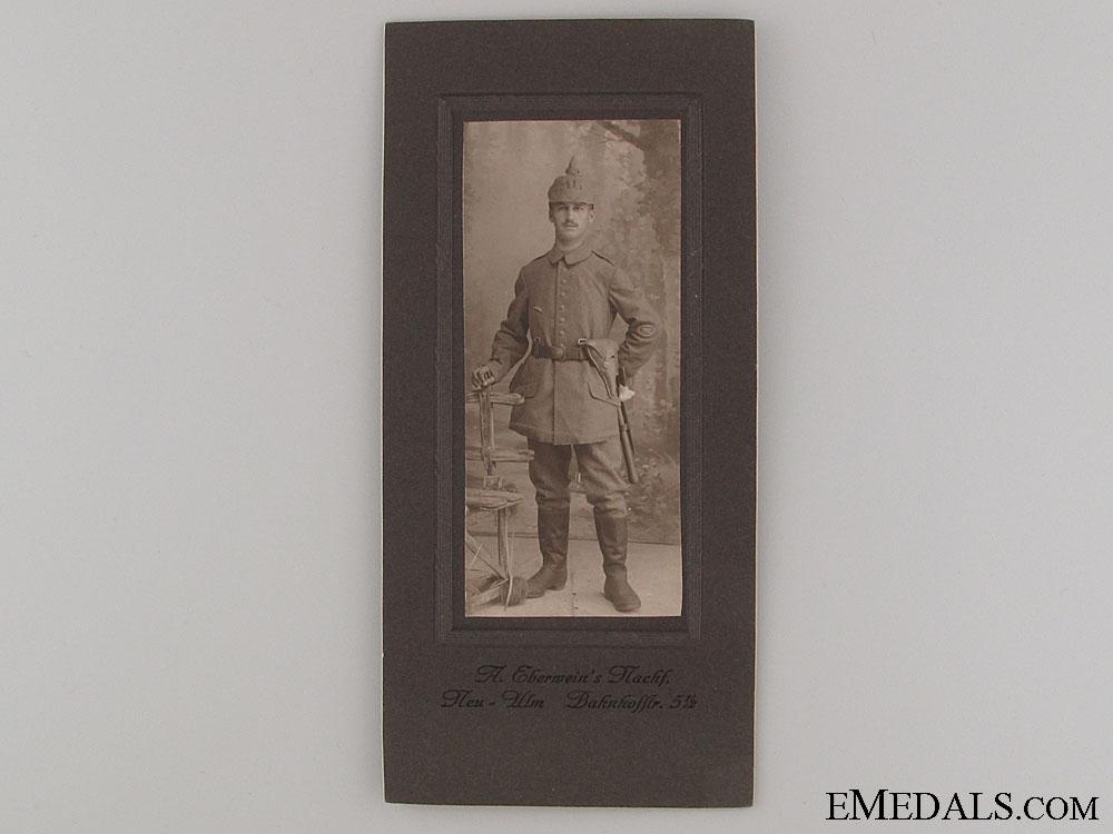 WWI German Machine Gunner Studio Portrait