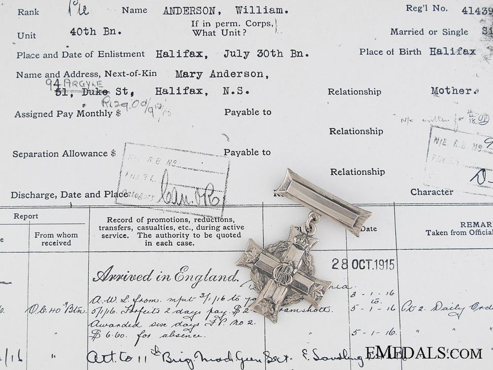 WWI Memorial Cross to the 1st Cdn Machine Gun Co.