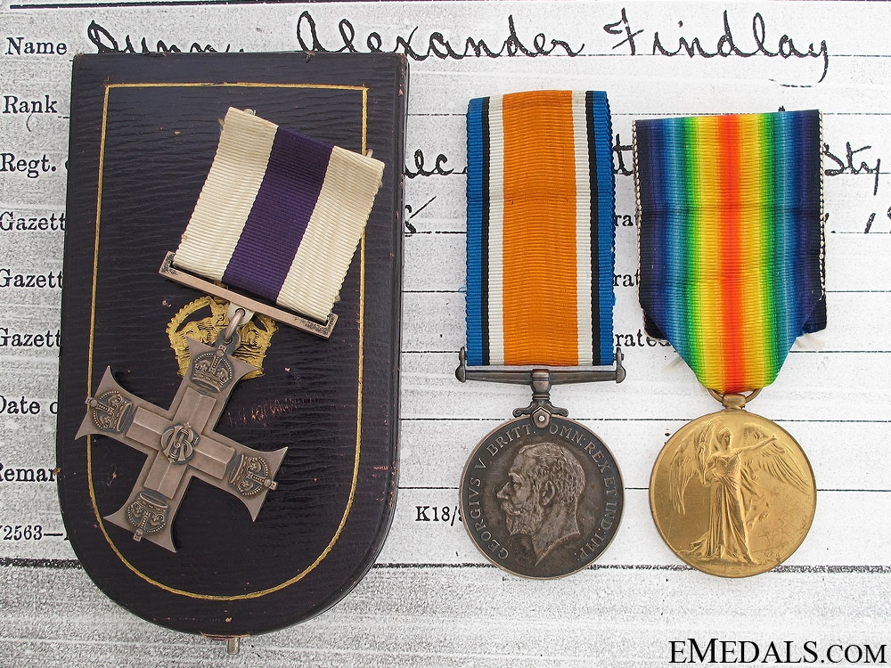 WWI Military Cross for Actions at Morchies 1918