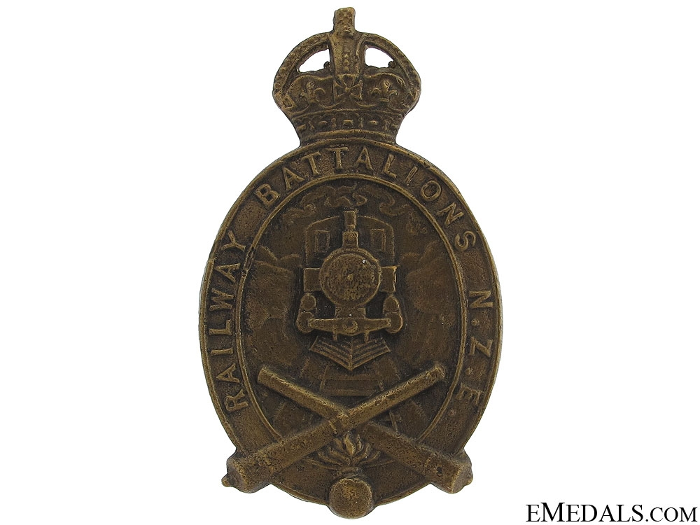 WWI NZ Railway Engineer Battalion Cap Badge