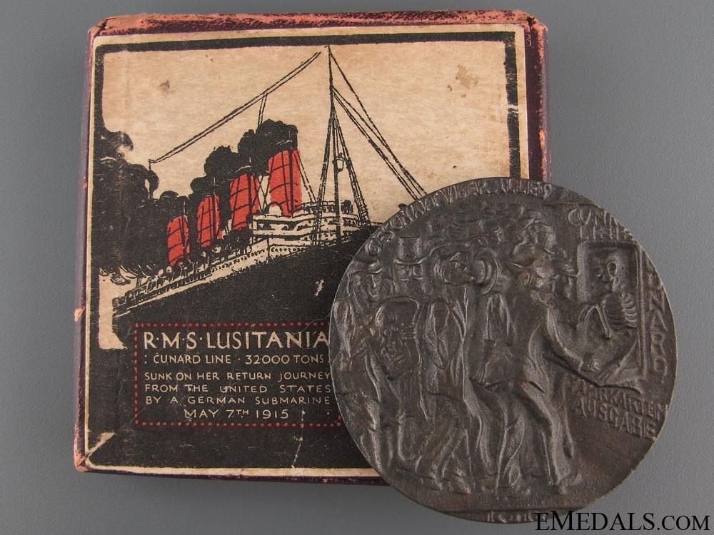 WWI RMS Lusitania Propaganda Medal