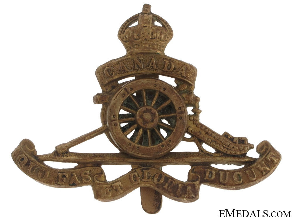 WWI Royal Canadian Artillery Cap Badge