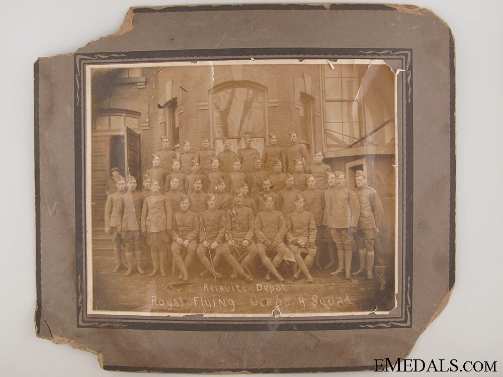 WWI Royal Flying Corps 4 Squadron Photograph