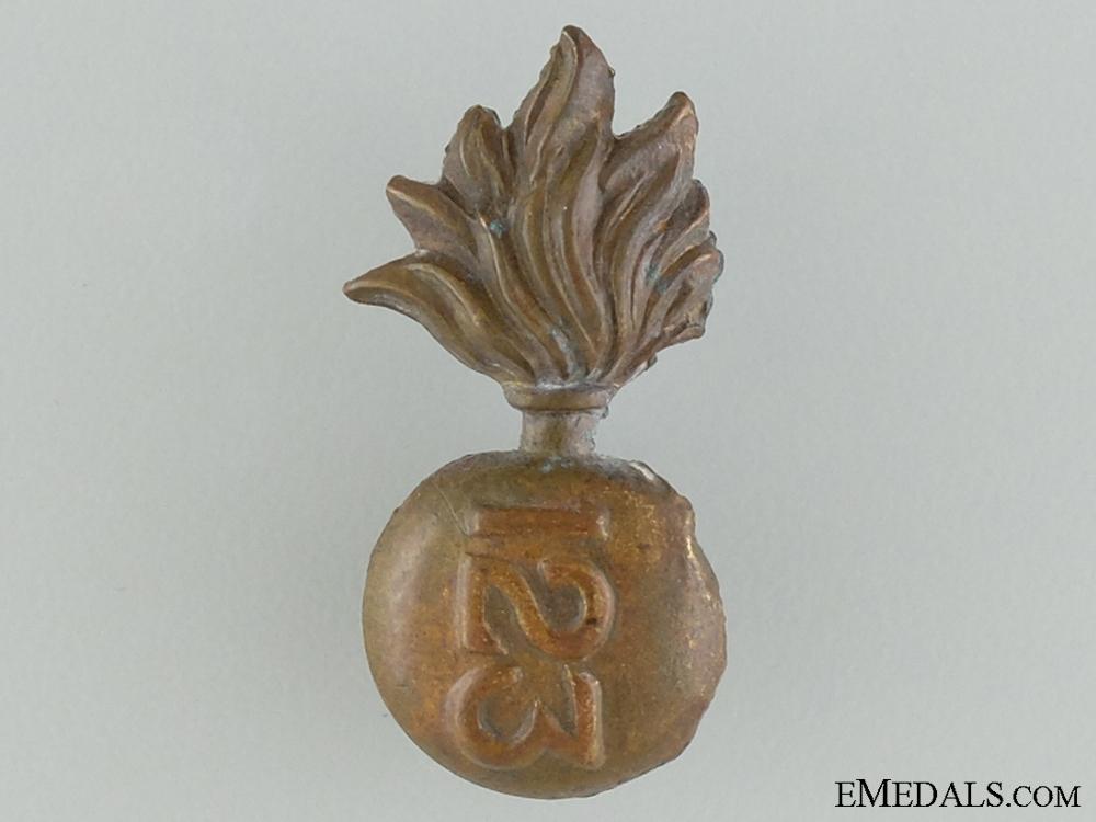 WWI Royal Grenadier Overseas Battalion 10th Regiment Collar Badge