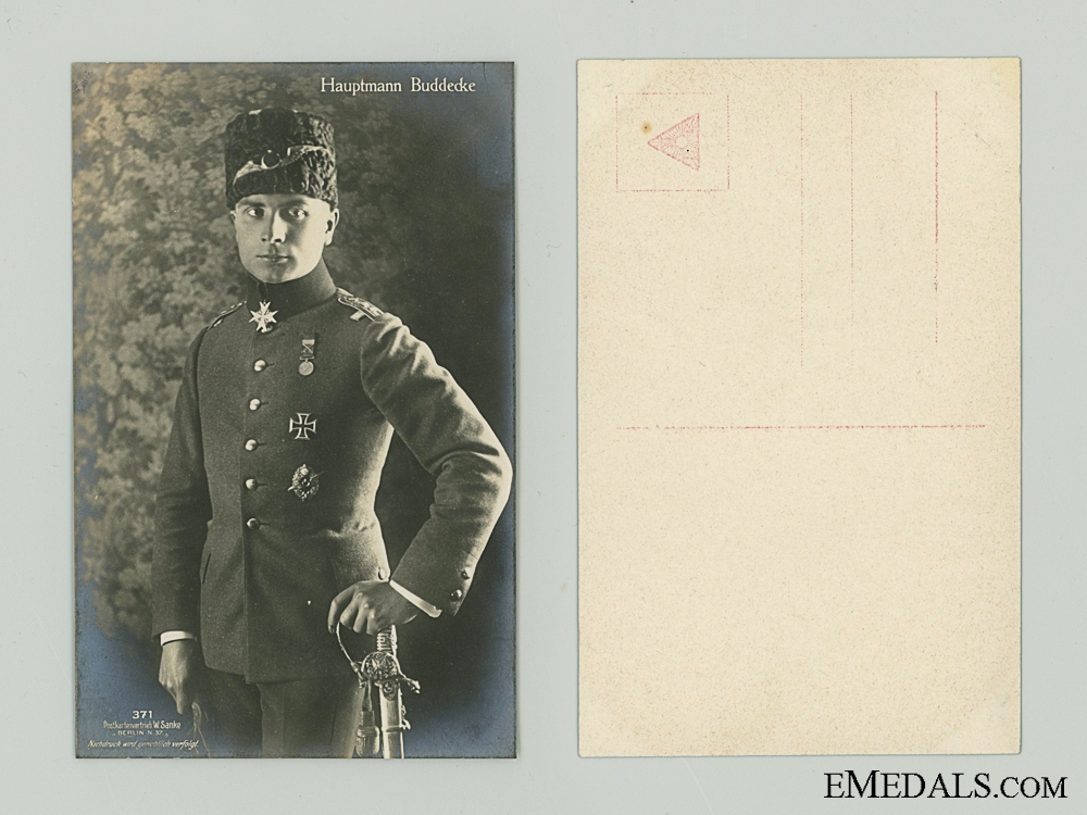 WWI Trukish Pilot Buddecke Picture Postcard