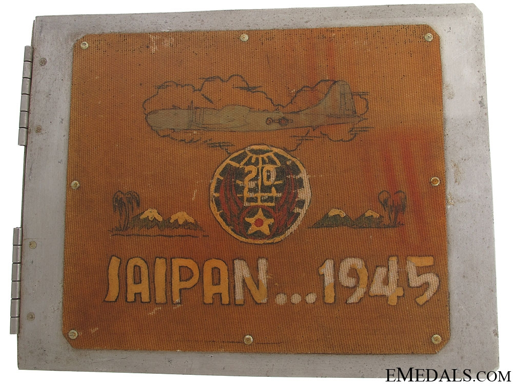 WWII 20th USAF Saipan Bomber Log Book Cover