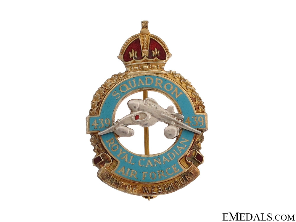 WWII 439 Squadron RCAF Sweetheart Pin