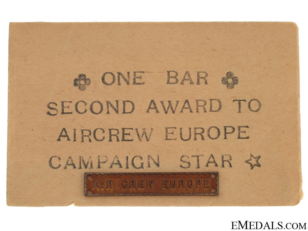 WWII Air Crew Europe Bar