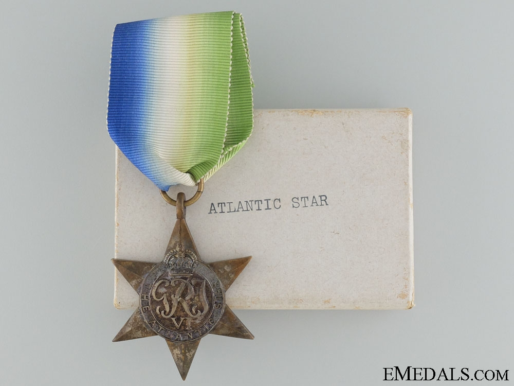 WWII British Atlantic Star with Box