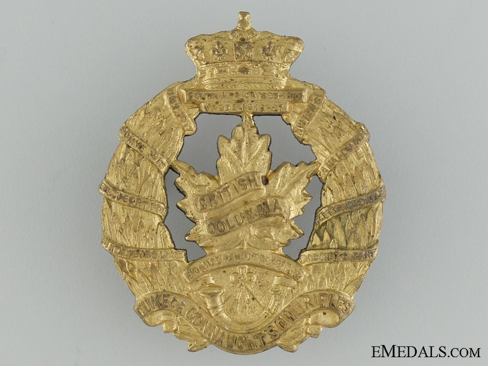 WWII British Columbia Regiment Cap Badge