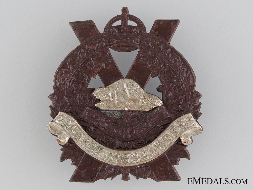 WWII Calgary Highlanders Cap Badge