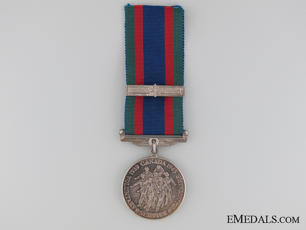 WWII Canadian Volunteer Service Medal with Overseas Clasp