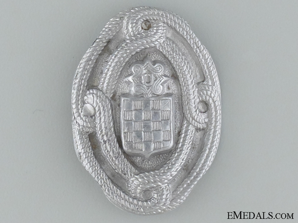 WWII Croatian Home Army EM Cap Badge