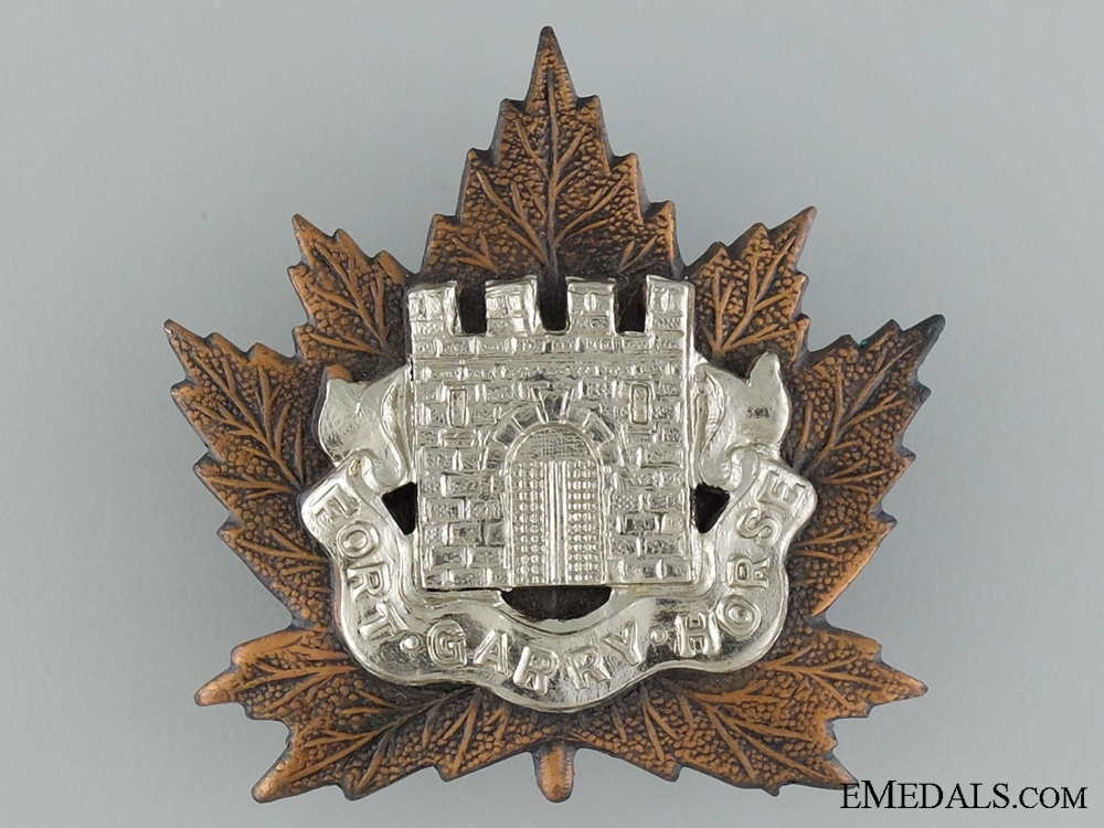 WWII Fort Garry Horse Cap Badge