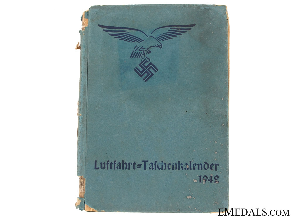 WWII German Aviation Pocket Calendar 1942