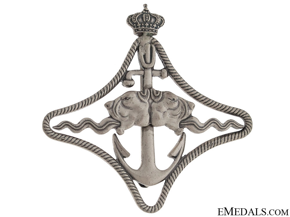 WWII Italian Naval Battleship Badge