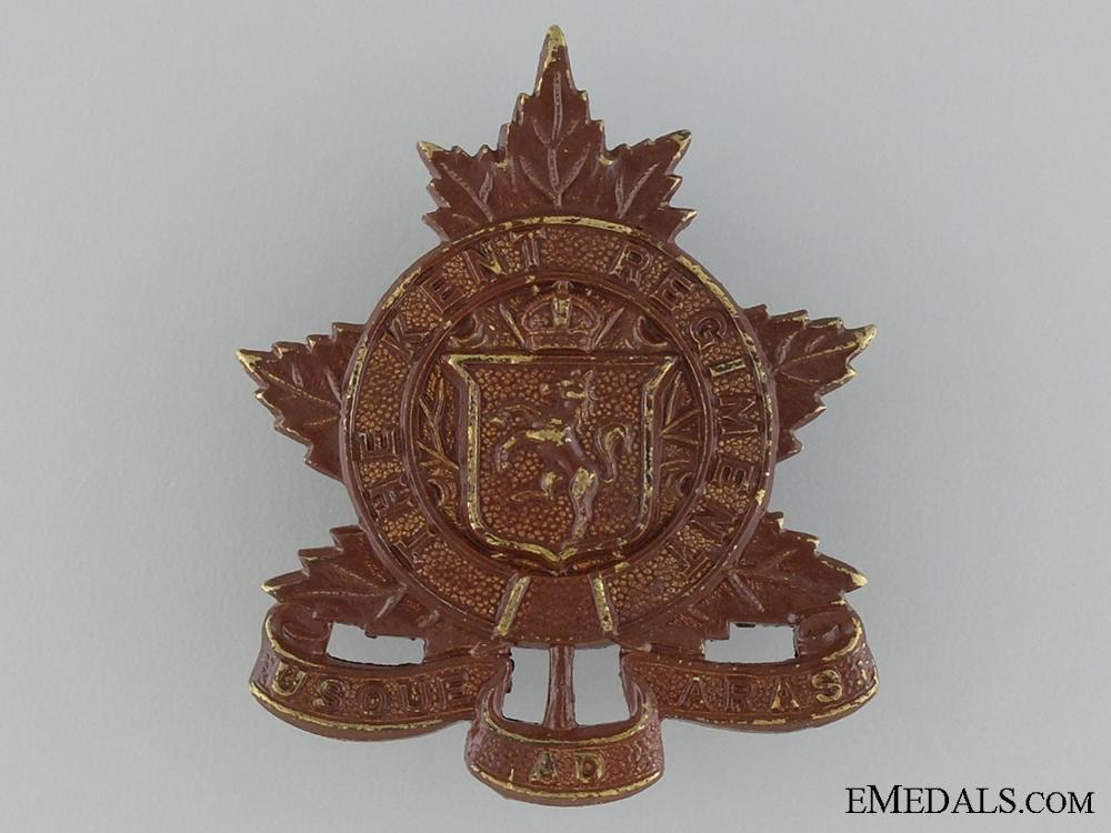 WWII Kent Regiment Cap Badge