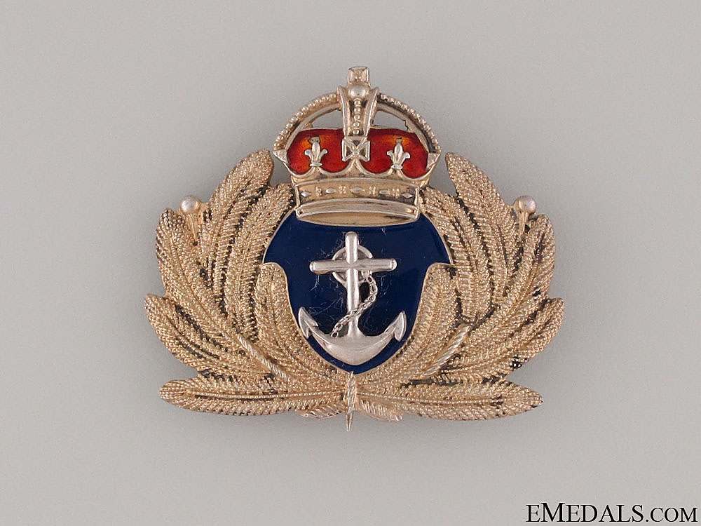WWII Large Royal Canadian Navy Pin by Birks