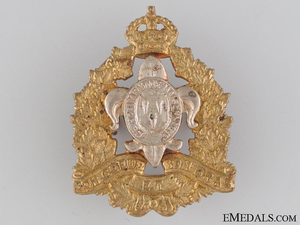 WWII Le R¡?giment de Maisonneuve Cap Badge