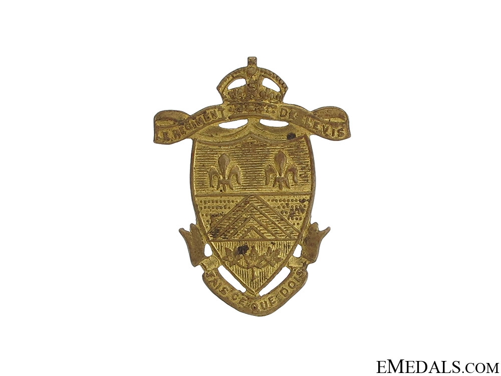 WWII Le Regiment de Levis Collar Badge