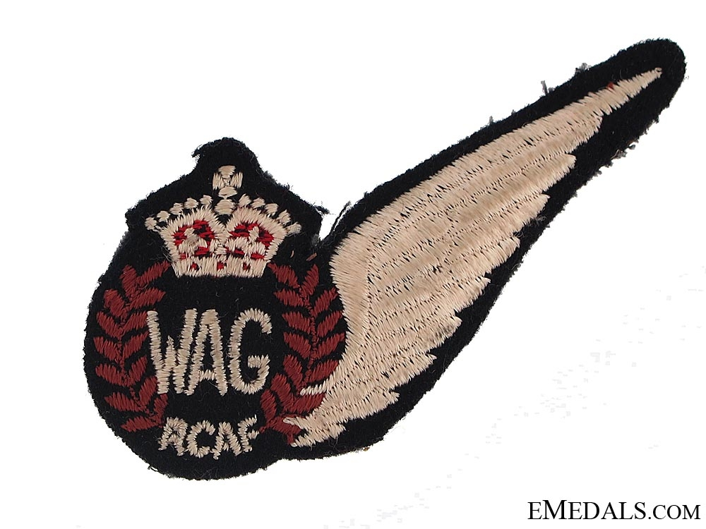 WWII Royal Canadian Air Force (RCAF) Wireless/Air Gunner's (WAG) Wing