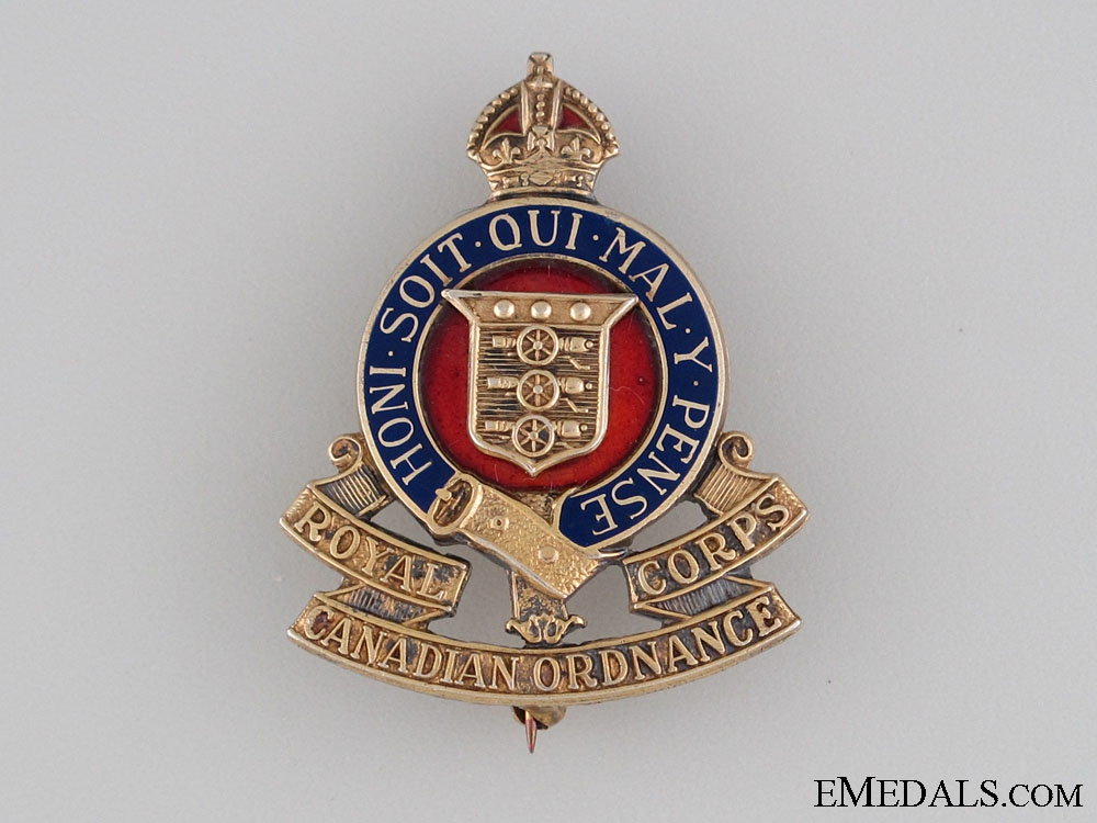 WWII Royal Canadian Ordnance Corps Pin
