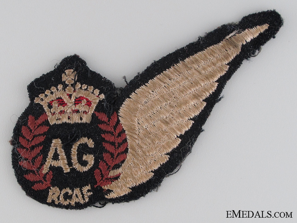 WWII Royal Canadian Air Force Air Gunner Wing