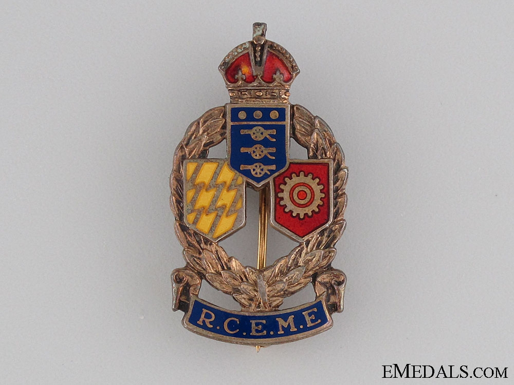 WWII Royal RCEME Sweetheart Pin