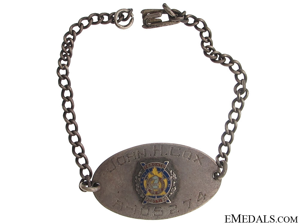 WWII Toronto Scottish ID Chain