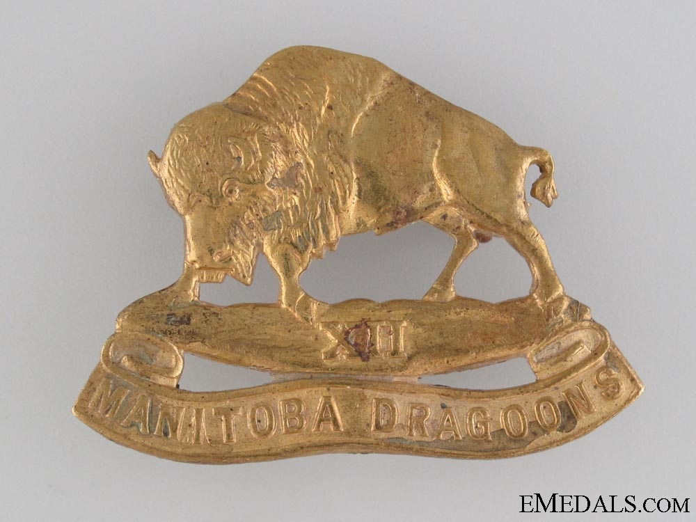 WWII XII Manitoba Dragoons Cap Badge