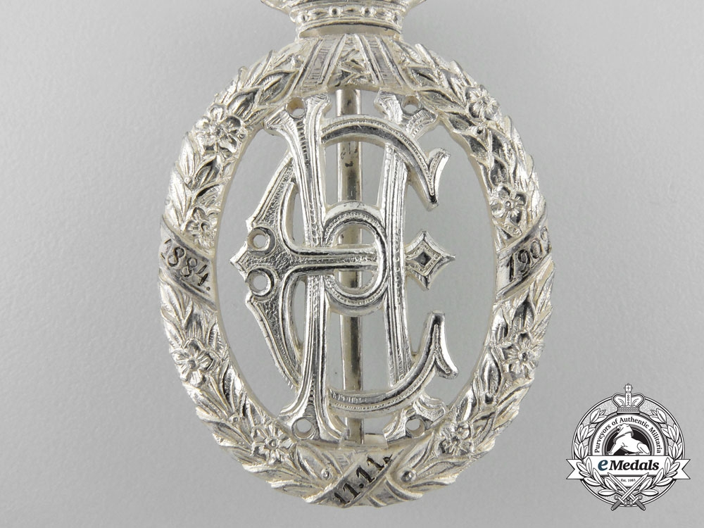 Reuss, Kingdom. A Rare Silver Wedding Decoration for Royal Guests 1884-1909