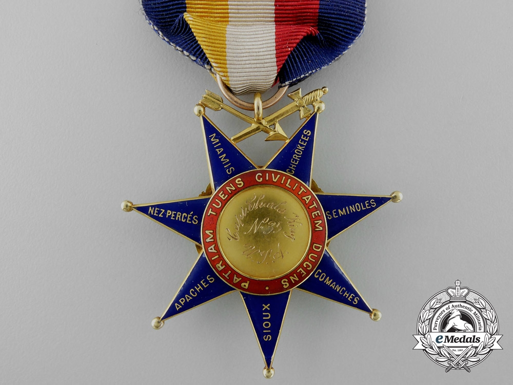 An Order of the Indian Wars to General & Writer Charles ...